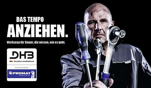 exklusivmarke promat als partner der deutschen handball nationalmannschaft promat. Black Bedroom Furniture Sets. Home Design Ideas